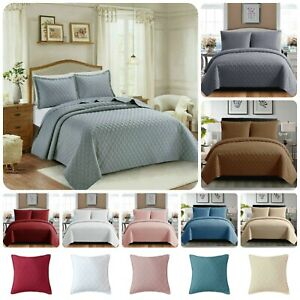 Now Luxury 3-Piece Embossed Modern INSPIRATION Bedspread Quilted Bed/Throw Sets