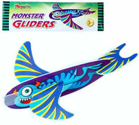 6 Monster Gliders - Styrofoam Planes Pinata Toy Loot/Party Bag Fillers Wedding/K