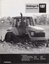CAT Challenger 35 Agricultural Tractor ~ 1994 ~ US Caterpillar Brochure