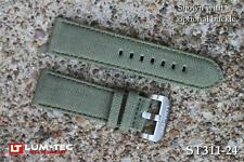 Lum-Tec Watches 22mm Gates Mills Green Canvass Strap (Buckle NOT Included)
