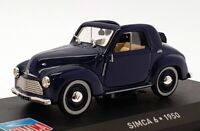 Altaya 1/43 Scale Model Car AL17221M - 1950 Simca 6 - Blue