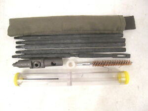 WWII Era US Army/USMC M1 Garand Rifle Buttstock Cleaning Kit w/Oiler