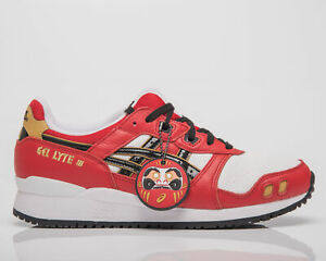 Asics Gel-Lyte III OG Men's Classic Red Black Casual Lifestyle Snealers Shoes