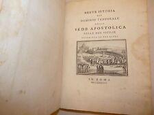 Borgia, Stefano: DOMINIO TEMPORALE SEDE APOSTOLICA nelle DUE SICILIE 1788 Roma