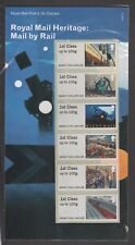 UK Post & Go Royal Mail Heritage Mail by Rail Stamp Set MNH 2017