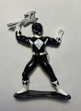 1993 MMPR Power Rangers Black ranger collectable Figure pvc cake topper