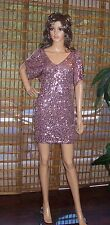 AS YOU WISH- dusti rose Sequin dress- SZ LARGE New