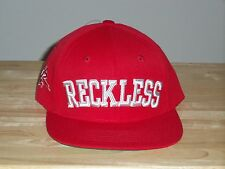 YOUNG & RECKLESS RED/WHITE ADJUSTABLE/SNAPBACK ONE SIZE FLAT BILL HAT