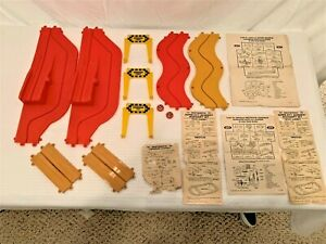 One Lot of Vintage Motorific Racerrific Track, Signs, Accessories, Instructions