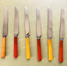 Six Vintage  Bakelite Handle Knives