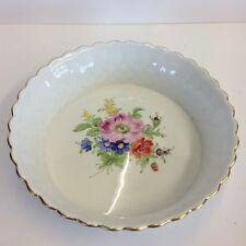 Vintage Hand Painted Serving Dish By Hochst Flowers 21cm Diameter