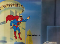 Superman-Superfriends Original Production Cel w/Drawing Signed by Bob Singer
