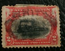 U.S.Stamps Scott #295 Used, Hinged,  2 cent Early Locomotive, 1901