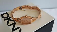 ©DKNY NY2238 CROSSWALK ROSE GOLD BANGLE GLITZ WOMEN's WATCH
