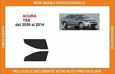 pellicola oscurante vetri acura tsx dal 2009-2014 kit anteriore