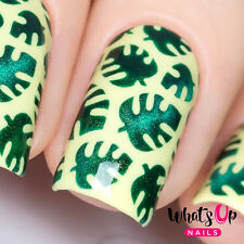 Tropical Leaves Stencils for Nails, Nail Art, Nail Vinyls for Nail Art Design