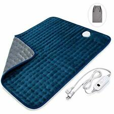 Electric Heating Pad With Fast-Heating Technology, Moist Dry Heat, Auto-Off And