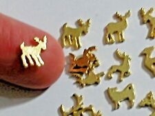 10pcs Miniature Doll tiny Golden Deer elk fawn antlers metal animal metal charms