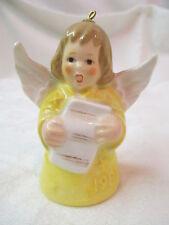 Vintage 1981 West Germany Goebel Angel Bell Ornament yellow Scroll Sheet Music