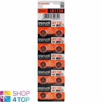 10 MAXELL ALKALINE LR1130 189 BATTERIEN 1.5V COIN CELL BUTTON AG10 EXP 2021 NEU