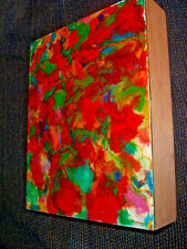 Arla Smith-Evanoff 'Kaleidoscope' Encaustic Abstract Painting Clayboard 8x10x2