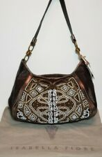 ISABELLA FIORE ART DECO ANNA EMBELLISHED EMBROIDERED  SHOULDER HANDBAG $695