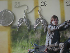 Daryl Walking Dead Biker Angel Wings Earrings