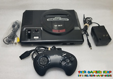 Sega Genesis Model 1 Console System New AV Cables CLEANED TESTED *VERY GOOD*