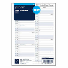 Filofax A5 Size 2019 Vertical Year Planner English Diary Refill Insert 19-68501