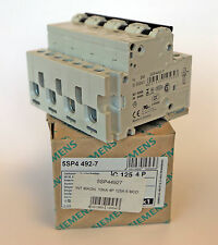 Interruttore Magnetotermico 4P 125A 10KA Siemens 5SP44927