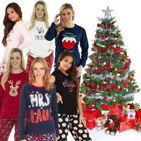 Christmas Ladies Girls Novelty Cotton Or Fleece Winter Pyjamas Pyjama Set