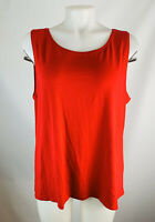 Eileen Fisher Womens XL Red Sleeveless Tank Top Blouse Rayon Stretchy Slinky