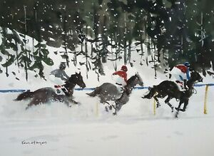 689 The White Stuff - Horse Racing Riding Ken Hayes