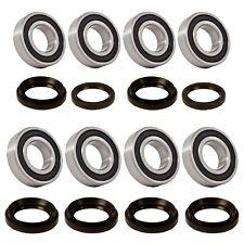 Both Front and Rear Wheel Bearing Seals Kits for 05-13 Yamaha Rhino 450 660 700