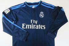 Medium Boy Real Madrid Shirt Away Long Sleeved Football Jersey Ronaldo SIZE 22