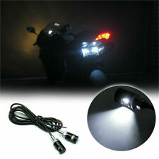 For Kawasaki Suzuki 2x White  LED License Plate Light Screw Bulbs Bolt-On