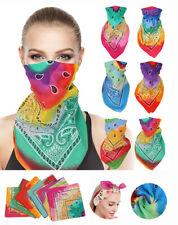 Damen RainbowSplash Tie-Dye Headwear Bandana Bands ScarfWristWrap Headtie