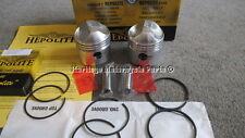 2 Hepolite Kolben + 60 rechts Durchmesser Pins Greifling Ringe TRIUMPH T100