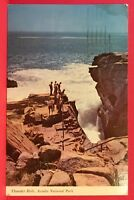 Postcard ME 1970 Bar Harbor Acadia National Park Thunder Hole Shore Drive A5