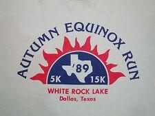 Vintage Autumn Equinox Fun Run Dallas Texas White Rock Lake 1989 80's T Shirt M