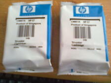 Genuine HP57 Original Tri Colour Ink Cartridges x 2 - C6657A