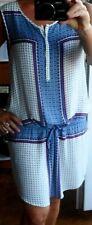 Robe PROMOD légère et fluide 42 bleue et blanche