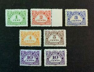 Newfoundland Stamps #J1-7 Mint Never Hinged