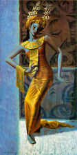 VLADIMIR TRETCHIKOFF The Balinese Dancer STRIKING woman hands gold GOUTTELETTE