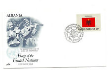 United Nations #379 Flag Series 1982, Albania, ArtCraft, FDC