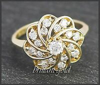 Diamant Ring mit 0,55ct Brillanten aus 585 Gold, Damen Cocktailring, Neu