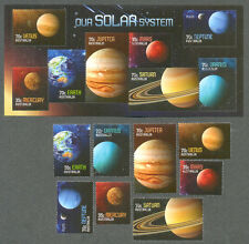 Australia=-Solar System -Planets set & Min Sheet cto-fine used 2015-Space