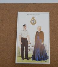 Military Uniforms Postcard royal Army Dental Corps Barrack dress  Unposted