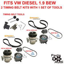 2 SetsTiming Belt Water Pump Kit Serp Belt & 1 SET Tools Fits VW Diesel 1.9 BEW