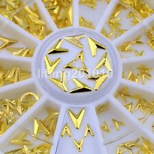 gold arrow triangle metal nail art decorations studs steering wheel accessoires